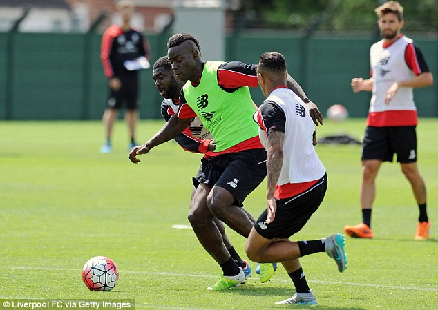 Mario Balotelli returned after he was granted compassionate leave following the death of his adoptive father