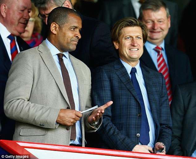 The Eagles' co-chairman Steve Parish (right) helped guide Palace from brink of administration to the top-flight