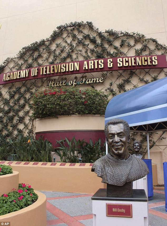 The bust of Cosby on display at Hollywood Studios theme park in Orlando was removed on Tuesday after it was revealed he had admitted to drugging women before sex
