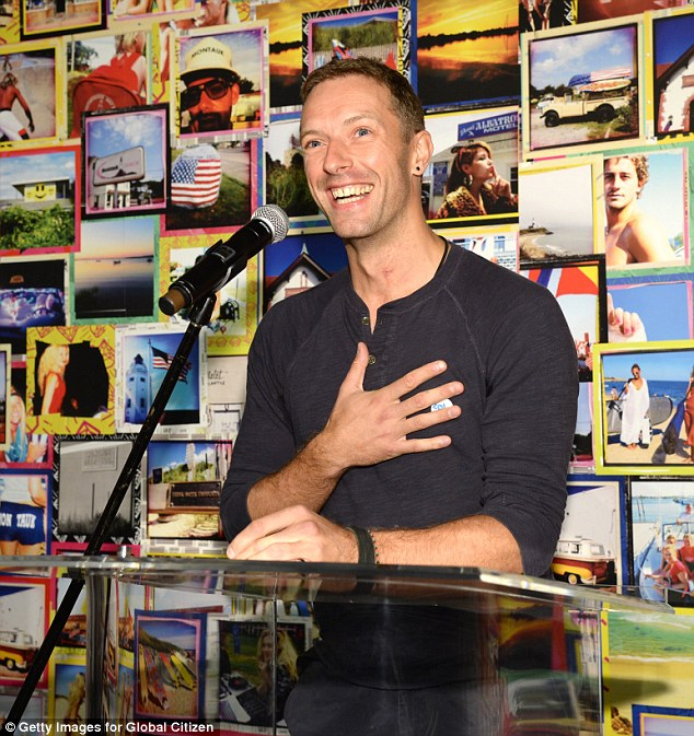 Philanthropist: Chris Martin announced their participation at the launch at Milk Studios in New York on Wednesday