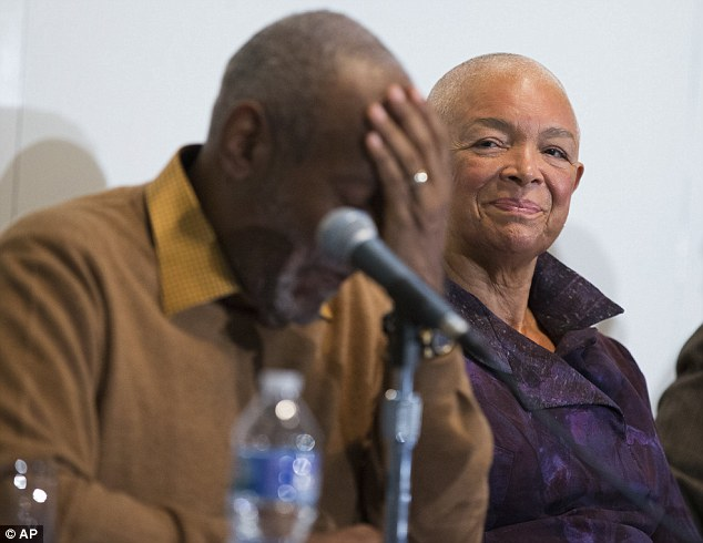 Cosby, pictured next to his wife Camille, has been accused of sexual misconduct by more than 45 women dating back to the late 1960s
