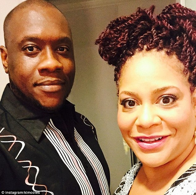 Meant to be: Kim Coles, 53, wed Reggie McKiver, 41, in a intimate beach ceremony in the Dominican Republic on June 17
