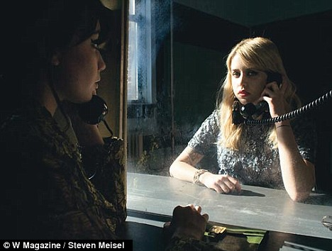 Visiting time: Peaches plays the role of a juvenile delinquent in the Law And Order themed shoot
