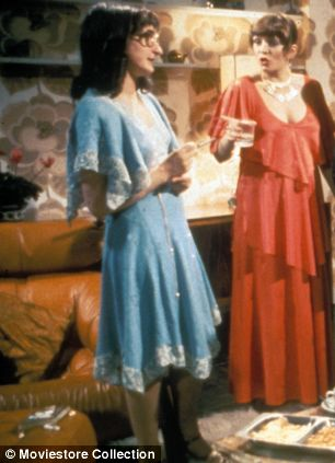 Alison (right) with Janine Duvitski in Abigail's Party