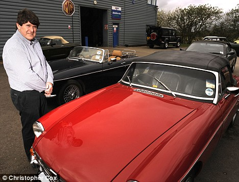 At the wheel: Richard Monk, general manager of the MG Owners' Club