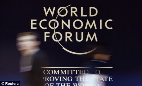 Financial crisis: Leaders including Gordon Brown and Vladamir Putin will attend the economic summit in Davos.