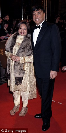 Hit hard: Steel magnate, Lakshmi Mittal, with his wife, whose personal wealth has dwindled from nearly £28billion to £10.8billion