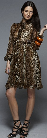 Leopard print dress, £785, D&G at Harvey Nichols