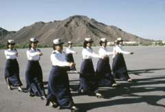 police women drilling