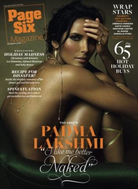 Padma Lakshmi poses for the front cover of PSM