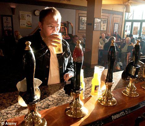 Alcohol link: A study has blamed Britain's drinking culture for an increase in the number of cases of cancer being diagnosed