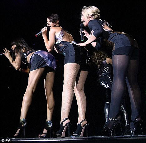 Sugababes perform on stage during Capital FM's Jingle Bell Ball at the O2 Arena in London.