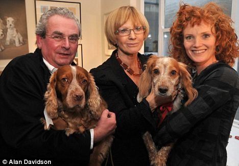 John Penrose with Florence with Anne Robinson & Emma Wilson with Ellie