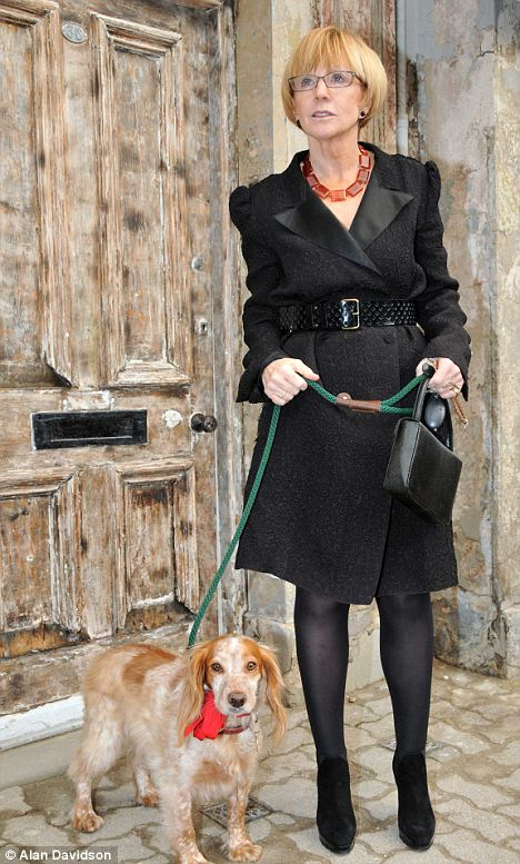 Anne Robinson Ex-Wife of The Gallery Owner John Penrose arrives with her dog Ellie