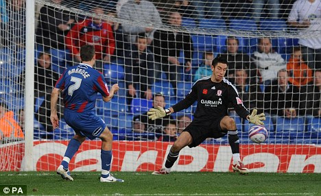 Crystal Palace's Darren Ambrose scores the opening goal