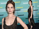 Mandatory Credit: Photo by Rob Latour/REX Shutterstock (4900800n)\n Lily James\n Entertainment Weekly photocall at Comic-Con, San Diego, America - 11 Jul 2015\n \n