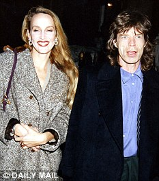 Mick Jagger and Jerry Hall attend Natasha Grenfell's birthday party 1993