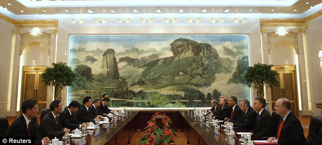 The summit of the two powers took place in the Great Hall of the People in Beijing