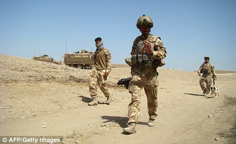 End in sight? The plans suggest a withdrawal of British forces could begin in 2011