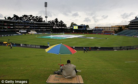 Rainy day: Fans must now wait until Sunday to see England take on South Africa in the ODI series