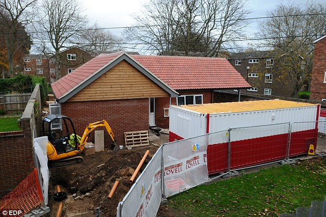Specially-designed: The two-bedroom bungalow will feature oversized corridors to allow Mr Williment to move around
