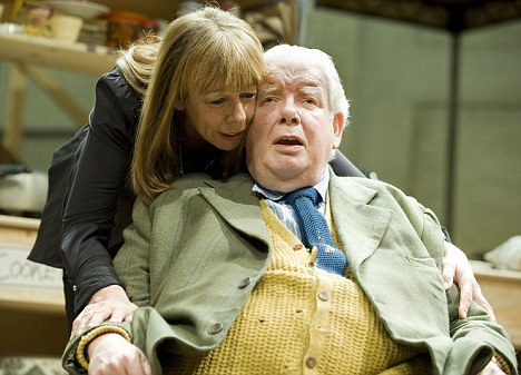 Poetry in motion: Frances de la Tour and Richrd Griffiths star in The Habit of Art by Alan Bennett
