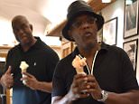 PORTOFINO, ITALY - JULY 12:  Magic Johnson and  Samuel L. Jackson are seen on July 12, 2015 in Portofino, .  (Photo by Photopix/GC Images)