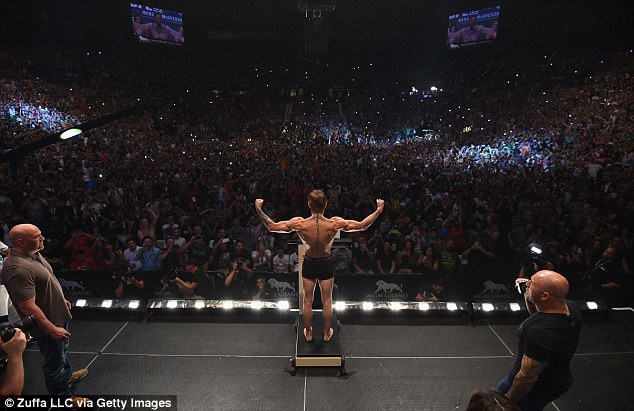 McGregor is roared on by thousands of Irish fans as he made the weight exactly