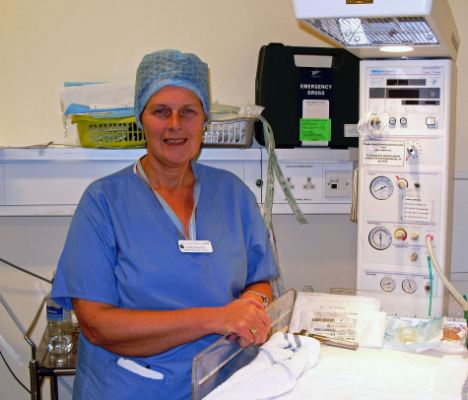 Extra help: Linda Goodwin in her role as midwife