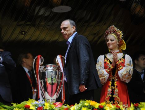 Chelsea manager Avram Grant is as close as he'll get to the trophy