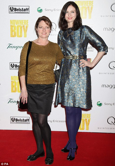 Janet Ellis (left) and Sophie Ellis Bextor arrive for the charity premiere of Nowhere Boy, at BAFTA