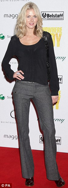 Donna Air arrives for the charity premiere of Nowhere Boy, at BAFTA in Piccadilly