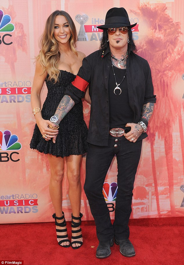 Happy couple: Courtney married former rock star Nikki Sixx in 2014, after three years of dating, at LA's famed Greystone Mansion