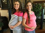 """Duggar Family Official Well, sweet Anna is now past her due date! First time she has ever gone """"late"""" instead of early! Here she is with our Jessa. Be praying for these girls. Pretty soon we will get to kiss the sweet face of another Duggar grandbaby!!!"""
