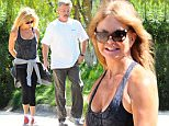 Picture Shows: Goldie Hawn  July 12, 2015\n \n Couple Goldie Hawn and Kurt Russell spotted out for a morning walk in Brentwood, California. Kurt was handling some obligations yesterday at Comic-Con in San Diego but made sure to make it home so he could spend time with his long time partner.\n \n Non-Exclusive\n UK RIGHTS ONLY\n \n Pictures by : FameFlynet UK © 2015\n Tel : +44 (0)20 3551 5049\n Email : info@fameflynet.uk.com