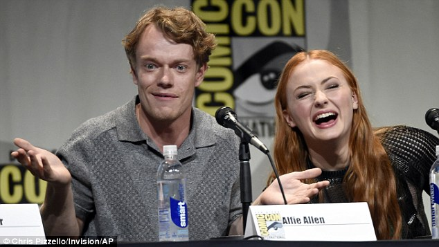Me either: Alfie Allen was not forthcoming on his insider knowledge about what was happening either