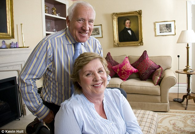 Caring: John Timpson and his wife Alex have opened up their home to many troubled children in need