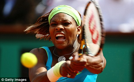 Eye off the ball: Serena Williams was beaten in three sets by Samantha Stosur