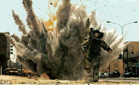 A scene from the Iraq war film The Hurt Locker which Chartrie