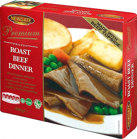 The £1 frozen ready meal roast dinner from Lidl which is friendly on 'tastebuds and your wallet'