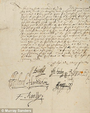 The royal execution warrant for Mary Queen of Scots, signed by her cousin Queen Elizabeth I, is part of the exhibition