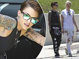 EXCLUSIVE TO INF.\nJuly 11, 2015: Orange Is The New Black's Ruby Rose and fiancee Phoebe Dahl house hunting in Hollywood, California.\nMandatory Credit: Mariotto/Chiva/INFphoto.com\nRef: infusla-244/276
