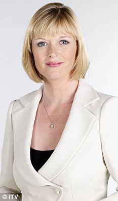 Equal opportunities: Julie Etchingham, a 40-year-old mother of two, believes hard work earns her the right to longevity on TV