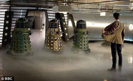 Daleks and the Doctor played by Matt Smith