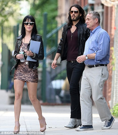 Katy Perry and Russell Brand spotted apartment hunting in the downtown area of New York