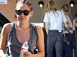 Picture Shows: Stella Maxwell, Miley Cyrus  July 12, 2015    Actress/Singer Miley Cyrus and her girlfriend Stella Maxwell spotted out for lunch at Granville in Studio City, California. Stella could be seen with her hand on the back of Miley's pants as they made their way into the restaurant.     Non-Exclusive  UK RIGHTS ONLY    Pictures by : FameFlynet UK � 2015  Tel : +44 (0)20 3551 5049  Email : info@fameflynet.uk.com