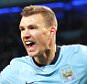Manchester City FC via Press Association Images File Photo: Manchester City have told Roma that Bosnia striker Edin Dzeko will cost them £20m. Manchester City's Edin Dzeko celebrating ... Soccer - Barclays Premier League - Manchester City v Newcastle United - Etihad Stadium ... 21-02-2015 ... Manchester ... United Kingdom ... Photo credit should read: Victoria Haydn/Manchester City FC. Unique Reference No. 22299347 ... MINIMUM FEE 40GBP PER IMAGE - CONTACT PRESS ASSOCIATION IMAGES FOR FURTHER INFORMATION.