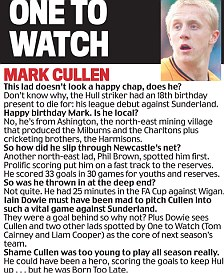 One to watch: Hull City striker, Mark Cullen