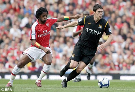 City slicker: Gareth Barry moved to Eastlands in the summer for £12million