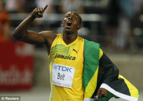 The man to beat: Jamaica's Usain Bolt holds the world records over 100 and 200m